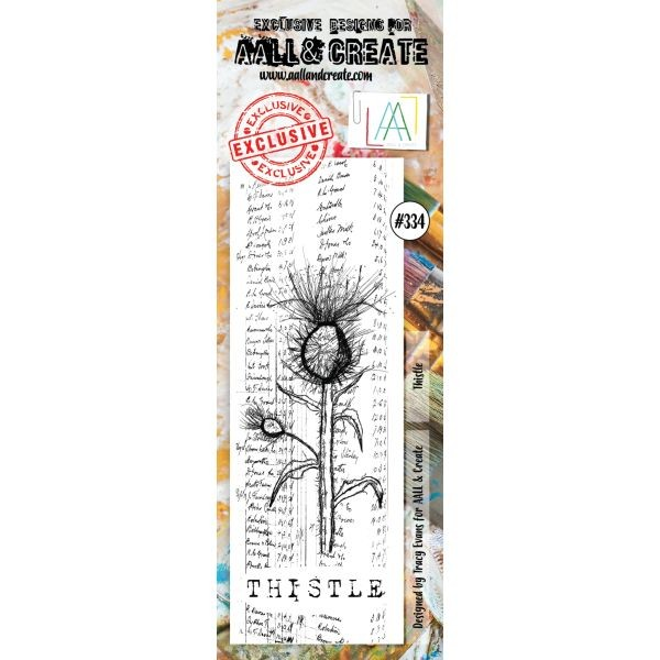AALL & Create Border Clearstamps No. 334 Thistle