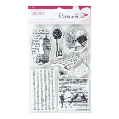 Papermania Bookprint Urban Stamps Bird Print