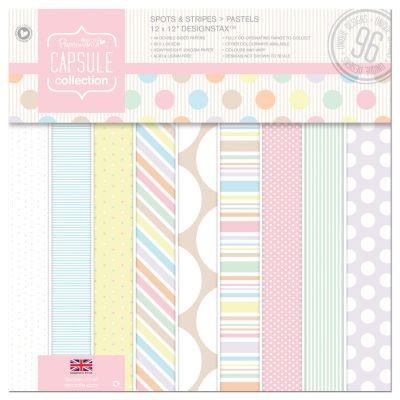 Papermania Capsule Spots & Stripes Pastels Designstax 12x12