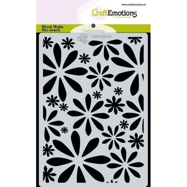 Craft Emotions Stencil A6 Bugs & Flowers Flowers