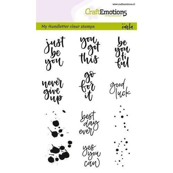 Craft Emotions Clearstamps Handlettering Miscellaneous