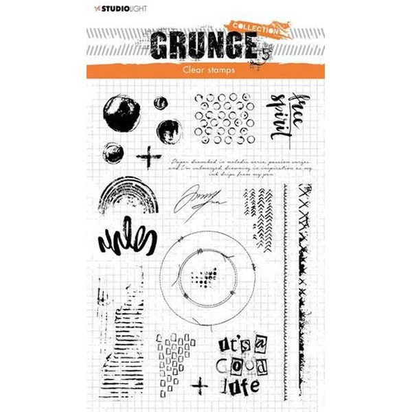 Studio Light Grunge Collection Clearstamps A5 No. 503