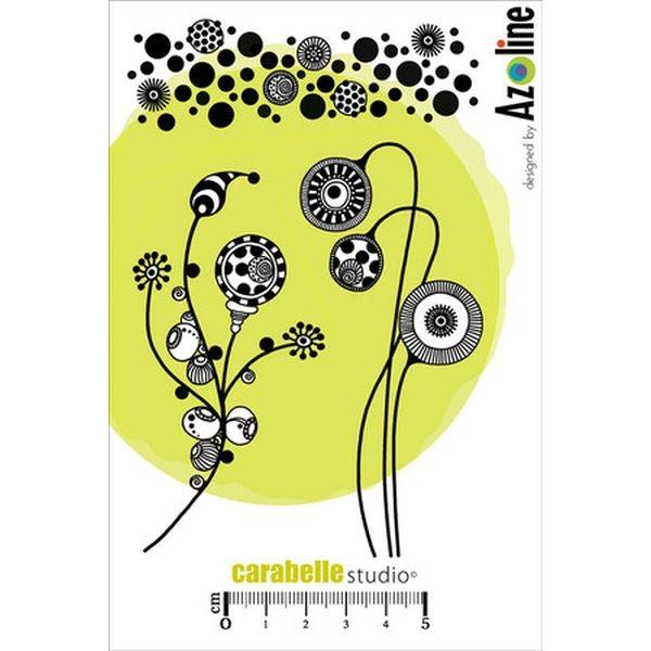 Carabelle Studio Tampon Art Stamp A6Frises et Tiges aux Lampions by Azoline