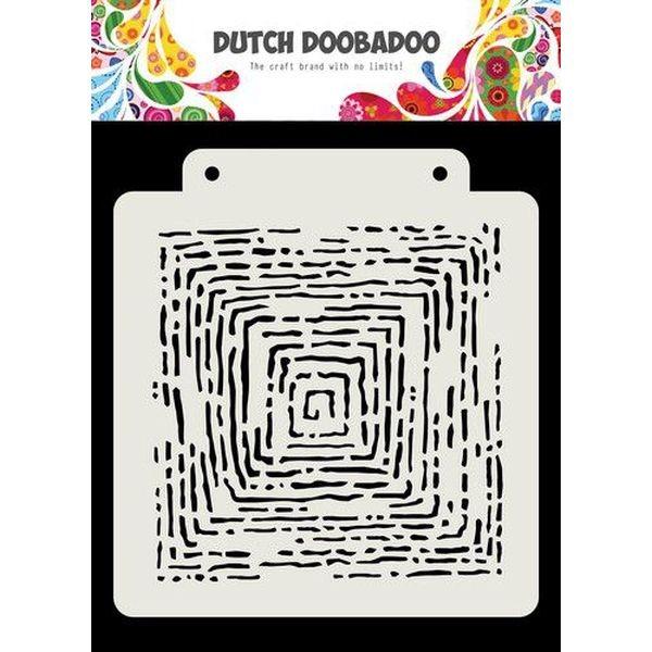 Dutch Doobadoo Mask Stencil 6x6 Grunge Lines