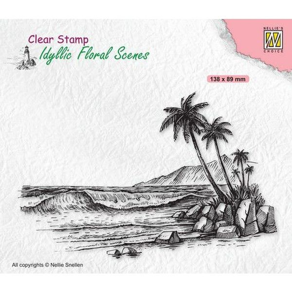 Nellie´s Choice Idyllic Floral Scenes Clearstamp Tropical Coast