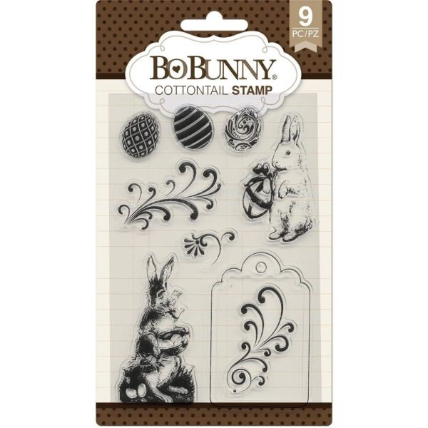 BoBunny Press Essentials Stamps Cottontail