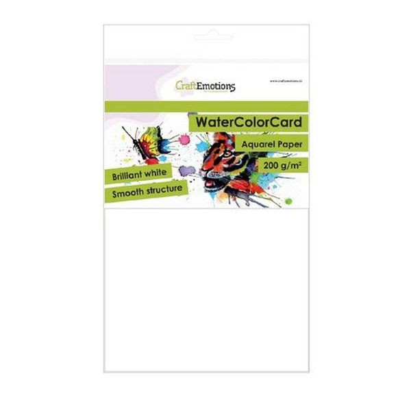 Craft Emotions WaterColorCard Brilliant White A5 200gr.