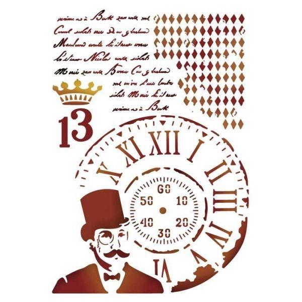 Stamperia Stencil 15x20 Steampunk Man
