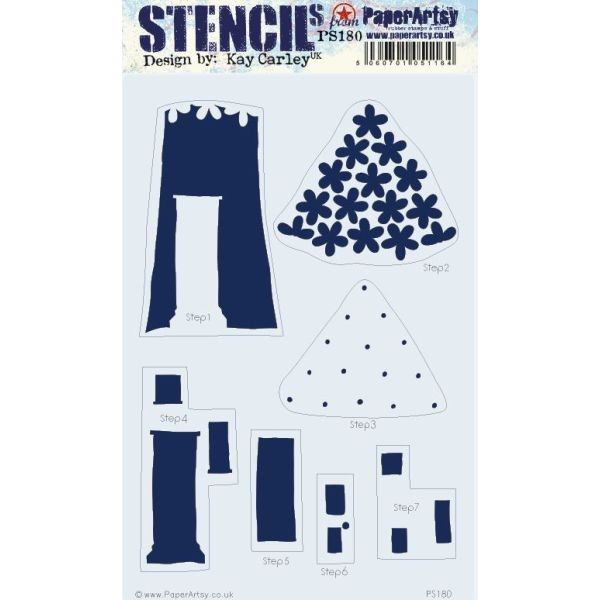 Paper Artsy Large Stencil 180 by Kay Carley