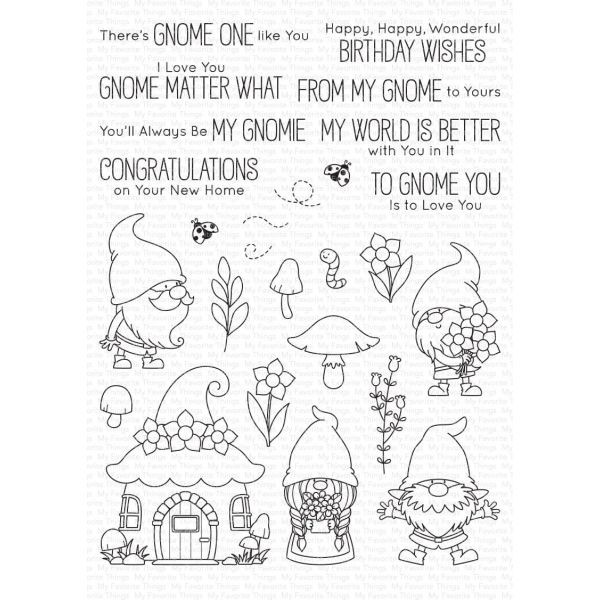 MFT Bundle Clearstamps & Dies Hanging with my Gnomies