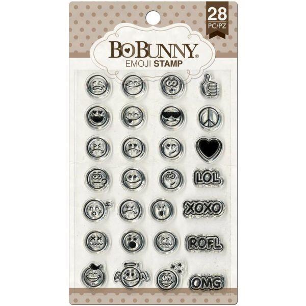 BoBunny Press Essentials Stamps Emoji
