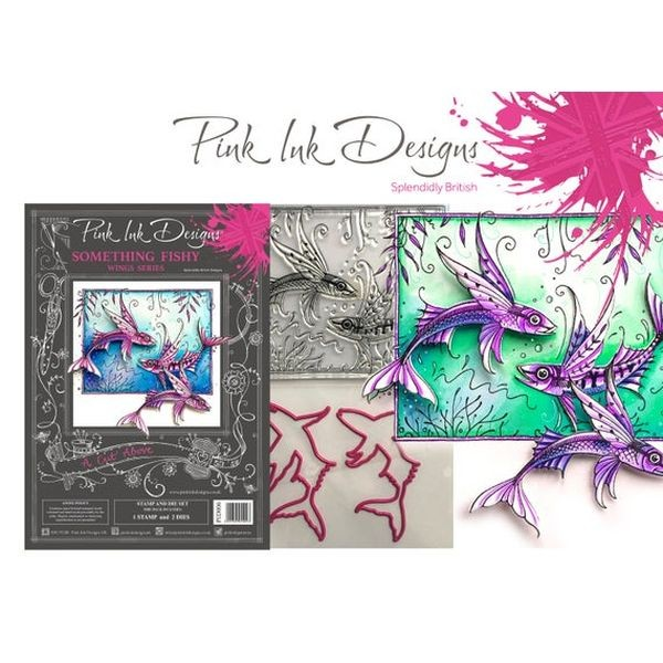 Pink Ink Designs Clearstamp & Die Set Something Fishy