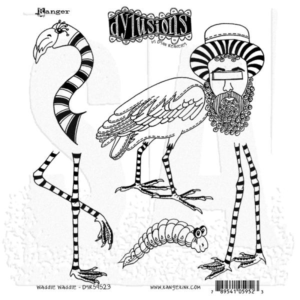 Dylusions Clingstamps Waddie Waddie