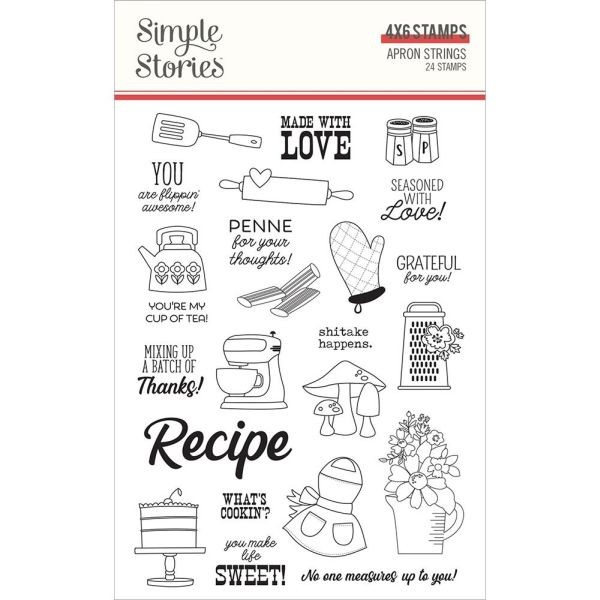 Simple Stories Clearstamps 4x6 Apron Strings