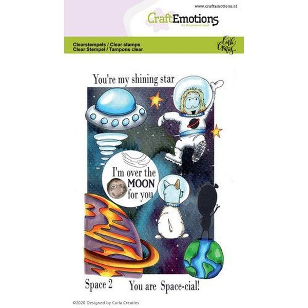 Craft Emotions Clearstamps Space II