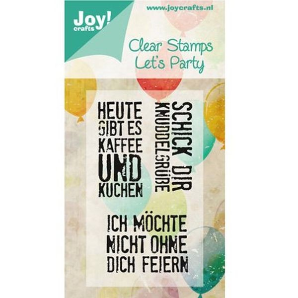 Joy! Crafts Clear Stamps Let´s Party