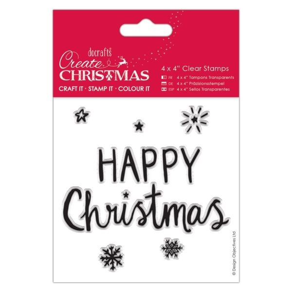 Create Christmas Clearstamps 4x4 Happy Christmas