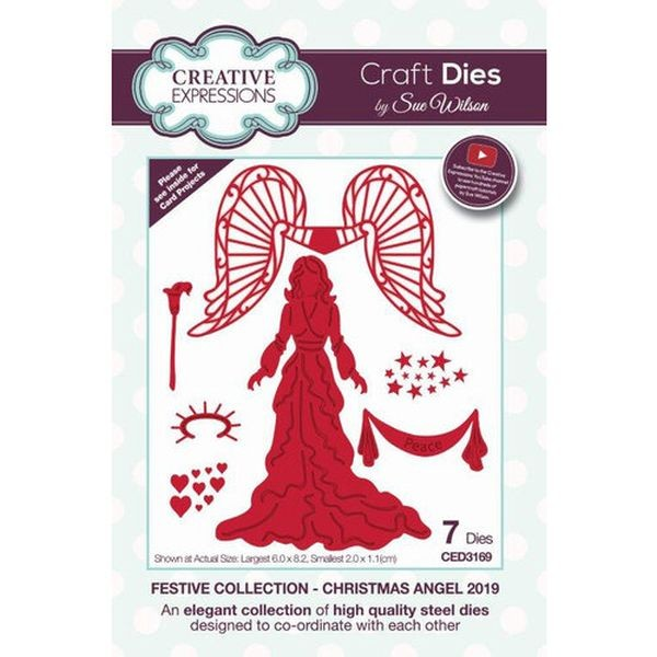 Creative Expressions Craft Dies Christmas Angel 2019