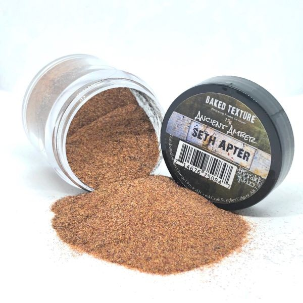 Seth Apter Baked Texture Embossing Powder Ancient Amber