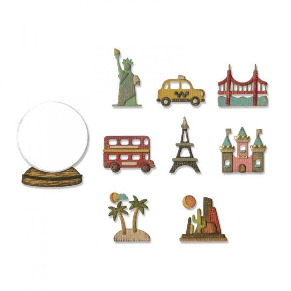 Tim Holtz Alterations Thinlits Tiny Travel Globe