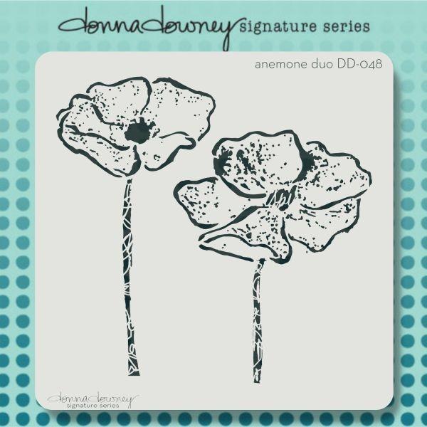 Donna Downey Stencil 8x8 Anemone