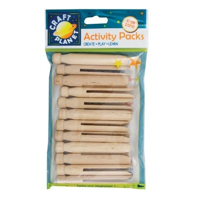 Dolly Pegs Natural