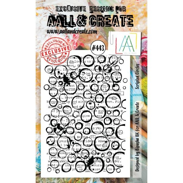 AALL & Create Clearstamps A5 No. 443 Scripted Circles