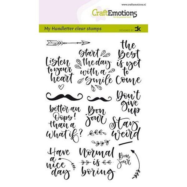 Craft Emotions Clearstamps Handlettering Quotes I
