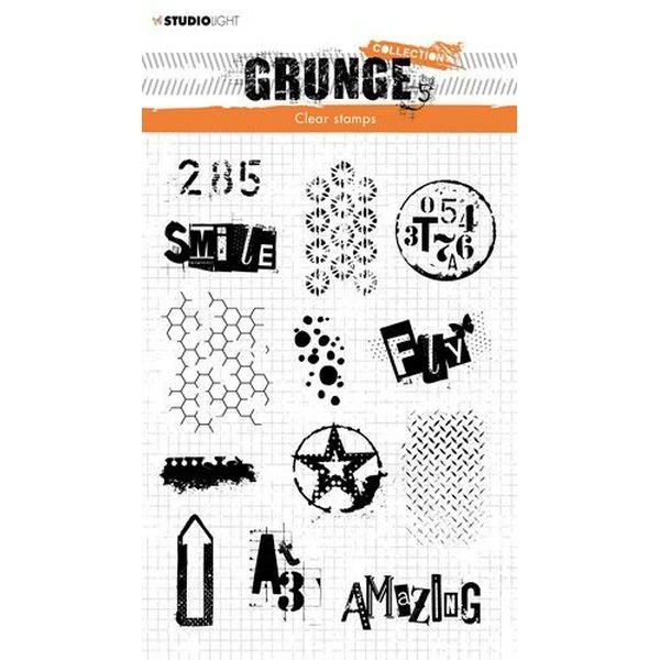 Studio Light Clearstamps Grunge Collection No. 408