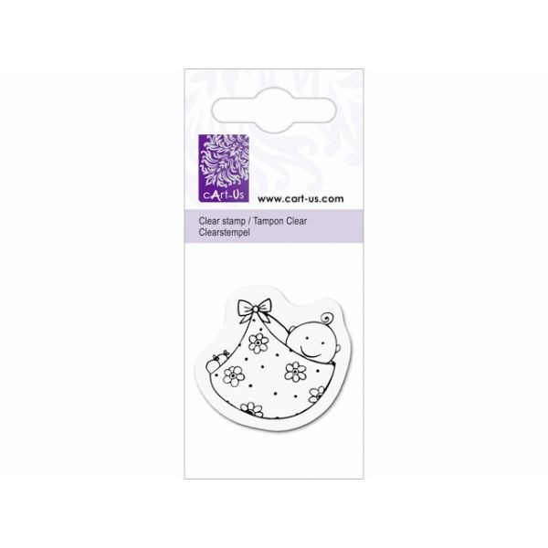 cArt-Us Mini Clearstamps Baby in Wrap