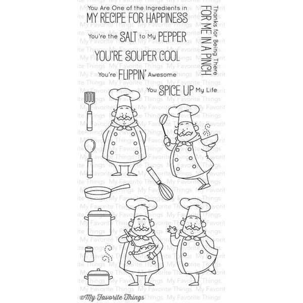 MFT Clearstamps Recipe for Happiness
