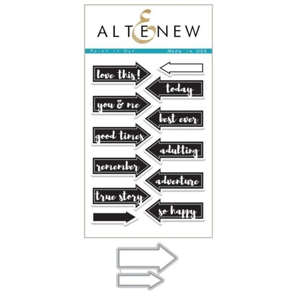 Altenew Bundle Clearstamps & Dies Point it Out