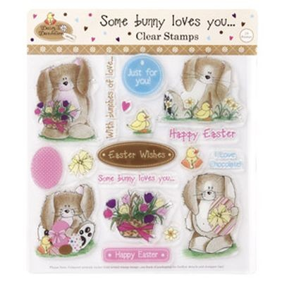 Daisy & Dandelion Clearstamps Some Bunny loves You