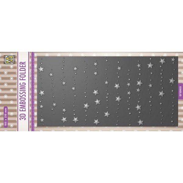 Nellie´s Choice 3-D Slimline Embossingfolder Stars & Dots