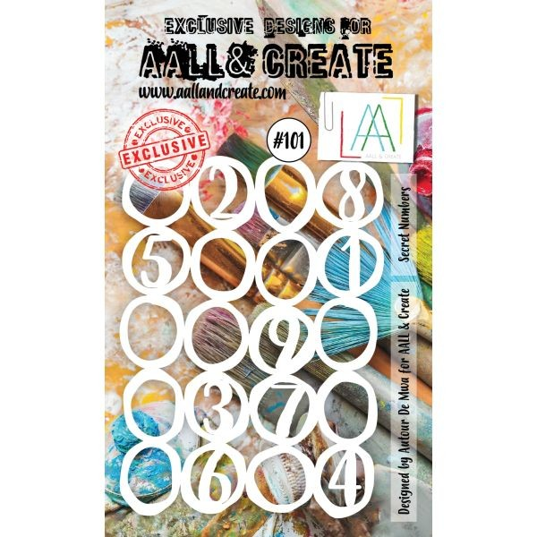 AALL & Create Stencil A6 No. 101 Secret Numbers