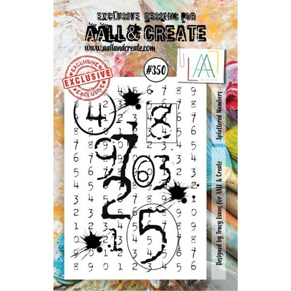 AALL & Create Clearstamps A7 No. 350 Splattered Numbers