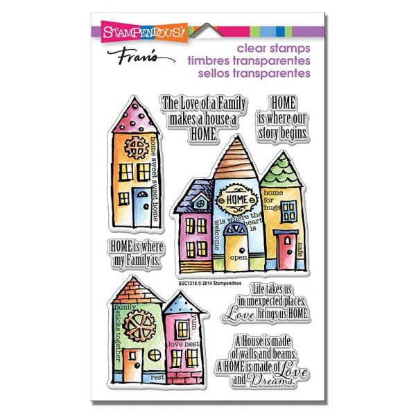 Stampendous Fran´s Clearstamps Family Home