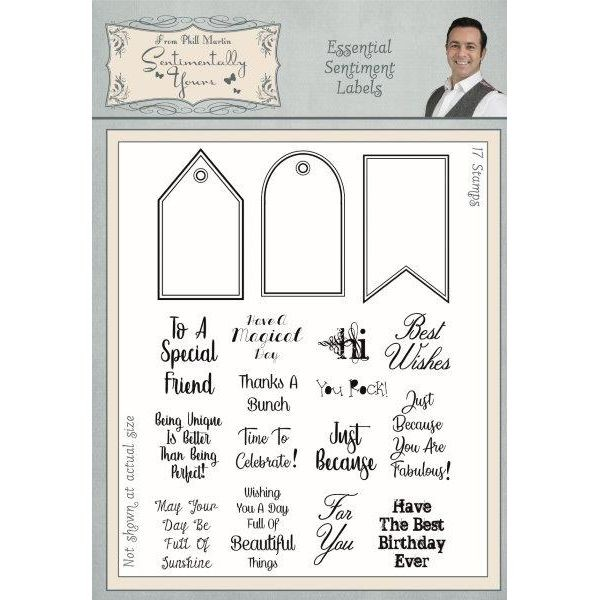Sentimentally Yours Clearstamps Essential Sentiment Labels