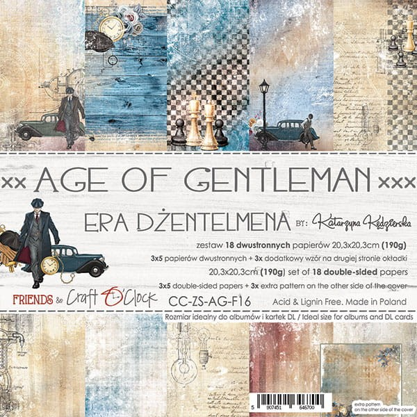 Craft o´Clock Age of Gentleman A Set of Papers 8x8
