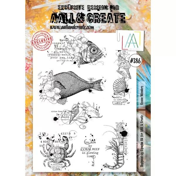 AALL & Create Clearstamps A4 No. 386 Ocean Wonders