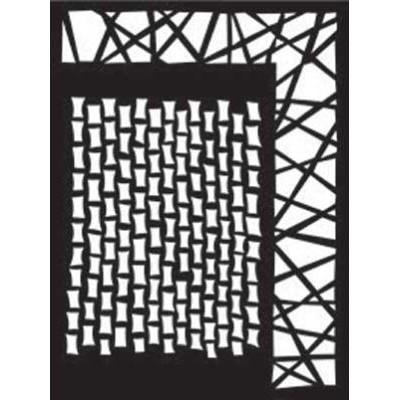 Dylusions Stencils 5x8 Staggered Brickwork