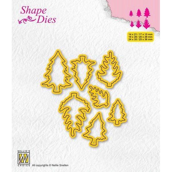 Nellie´s Choice Shape Dies Mini Dies Pine Trees No. 1