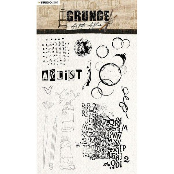 Studio Light Grunge Artist´s Atelier Clearstamps A5 No. 33