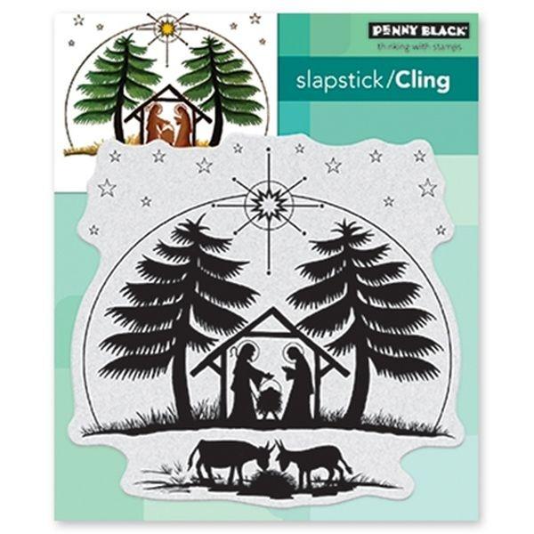 Penny Black Slapstick/Cling Nativity