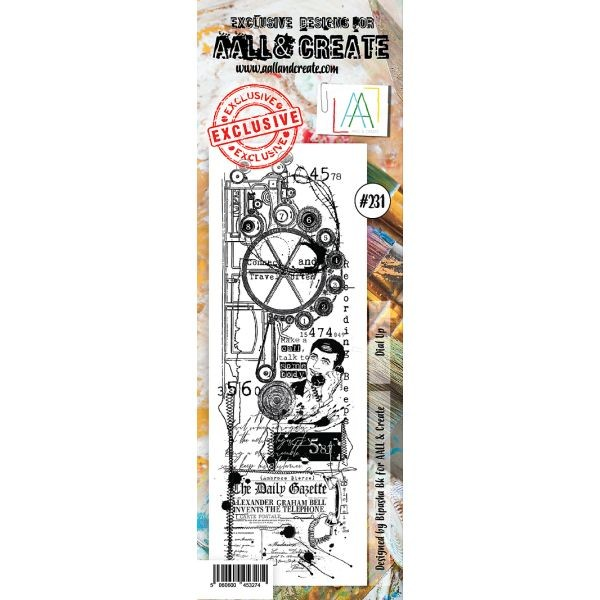 AALL & Create Border Clearstamps No. 231 Dial Up