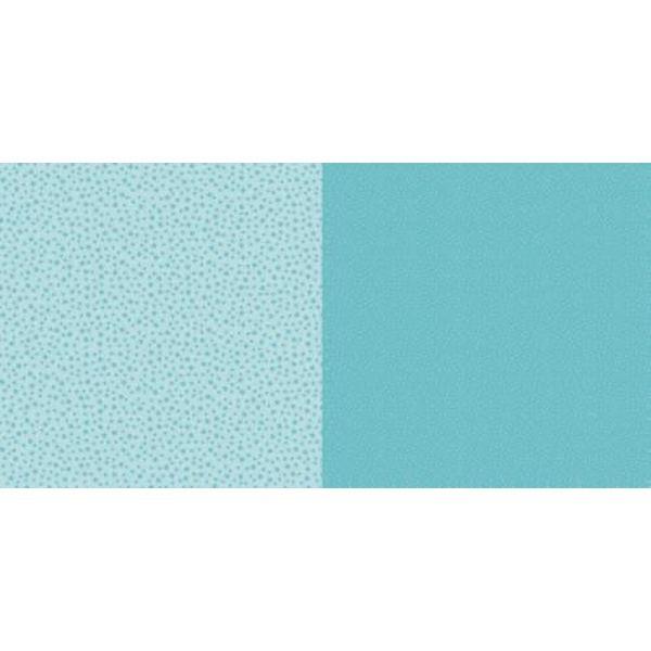 Dini Design Scrapbook-Papier Punkte & Blumen Lagunenblau