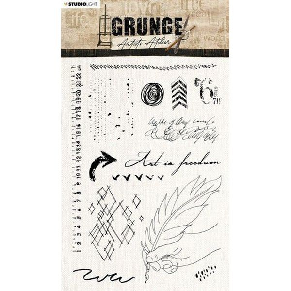 Studio Light Grunge Artist´s Atelier Clearstamps A5 No. 32