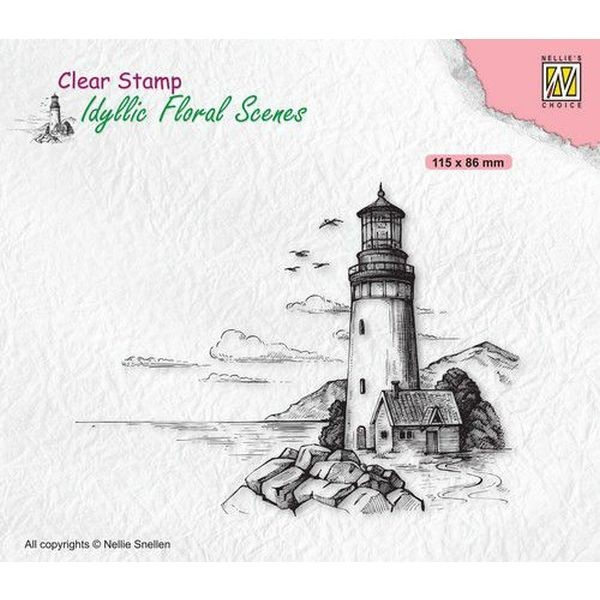 Nellie´s Choice Idyllic Floral Scenes Clearstamp Lighthouse
