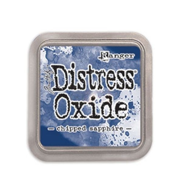Tim Holtz Distress Oxide Pad Chiped Saphire