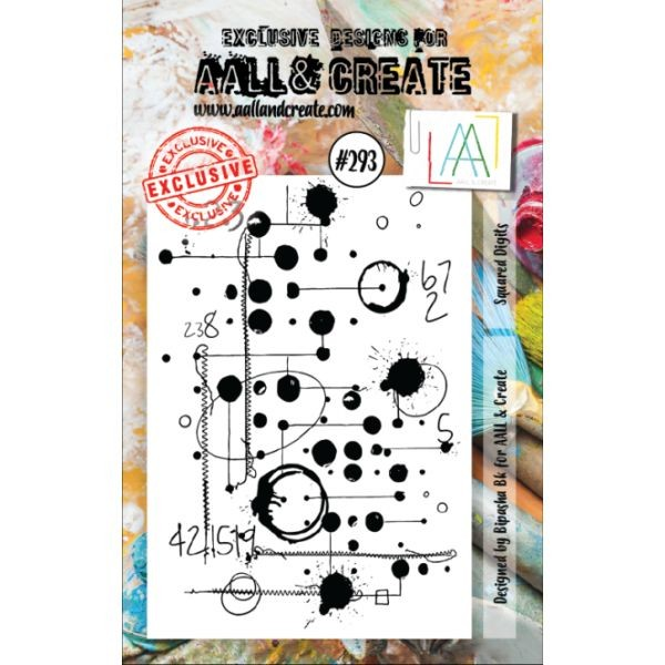 AALL & Create Clearstamps A7 No. 293 Squared Digits